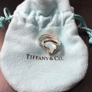 NEW Tiffany & Co. Elsa Peretti Open Heart Ring Sz5